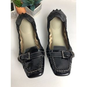TOD's Tods Dee Buckle Ballet Flats Black Shoes